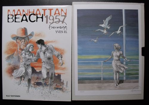 Manhattan Beach 1957 mit Grafik Z0-1